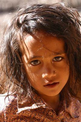 Mädchen aus Mechche in Nepal