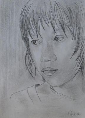 Mädchen aus Myanmar
