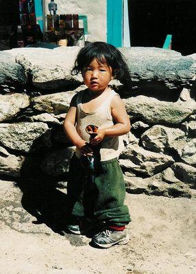 Mädchen aus Nepal