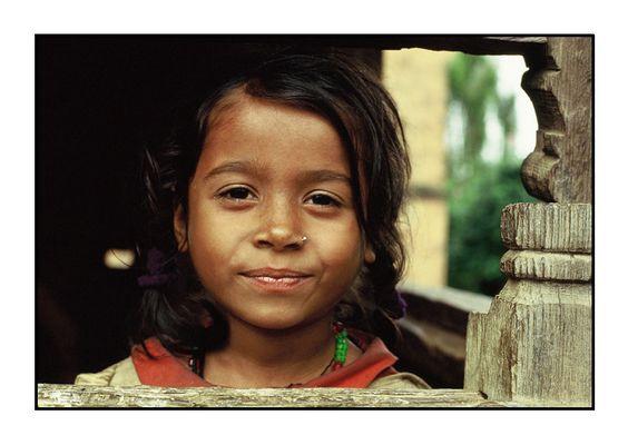 Mädchen aus Panauti, Tal von Kathmandu, Nepal
