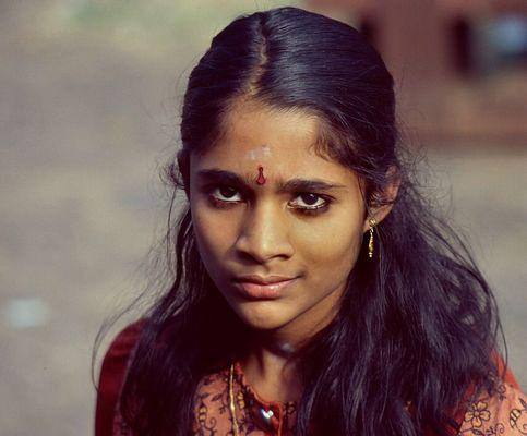 Mädchen aus Südindien