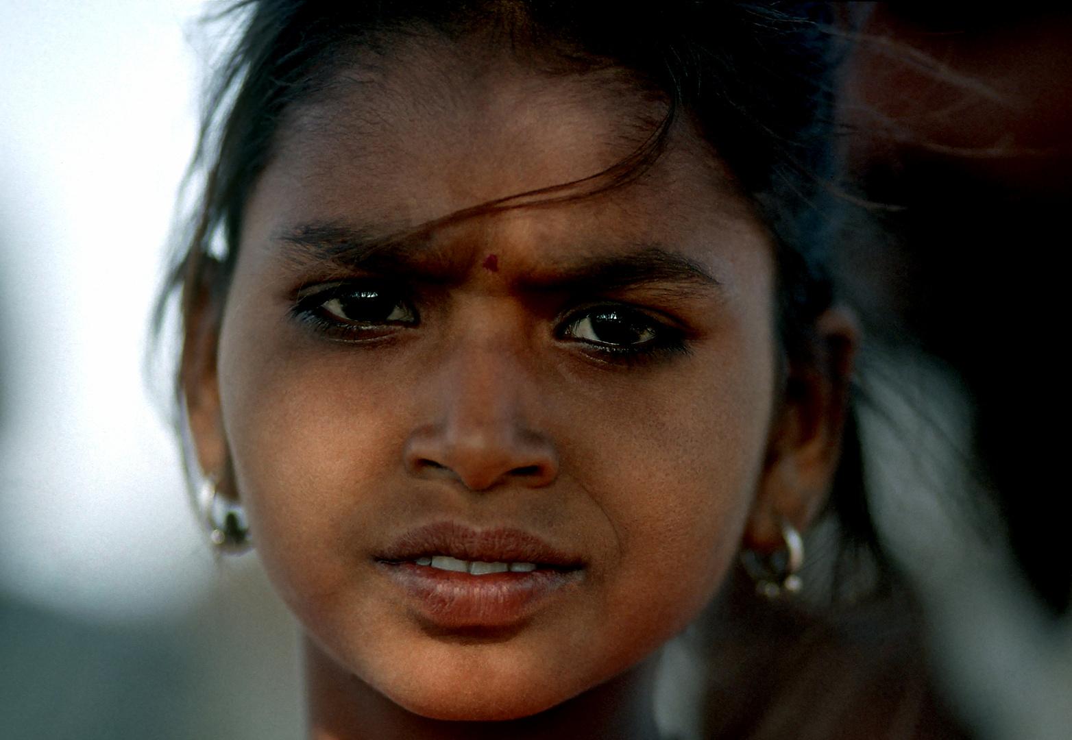 Mädchen beim Pushkar Mela
