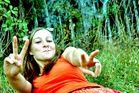 Mädchen im Gras