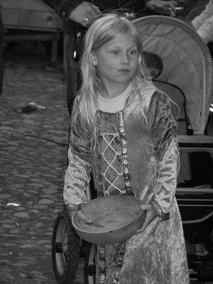 Mädchen im Mittelalter...