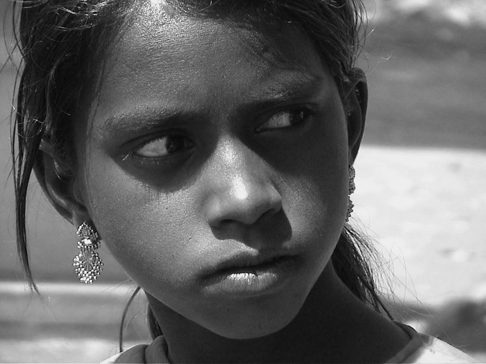 Mädchen in Chittorgarh