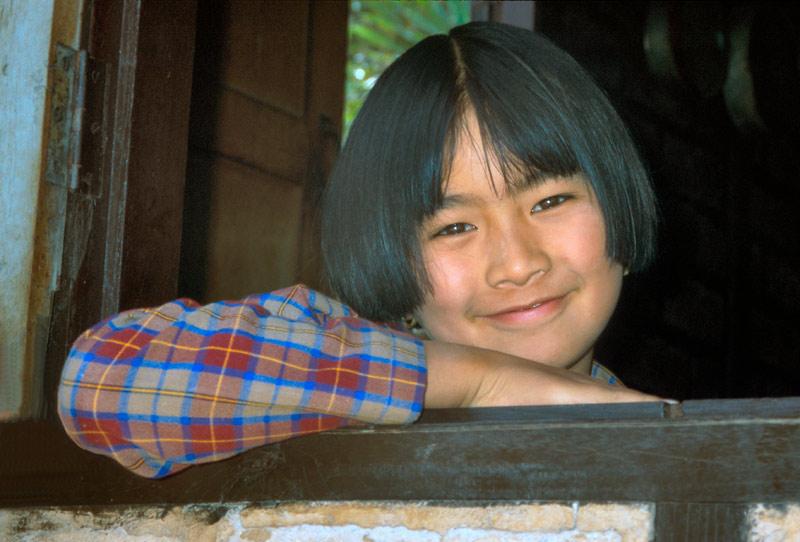Mädchen in Pindaya