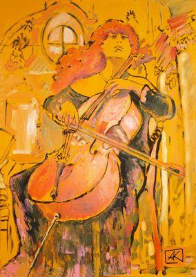 Mädchen mit Cello |