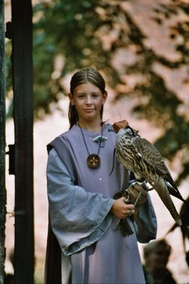 Mädchen mit Falke 2