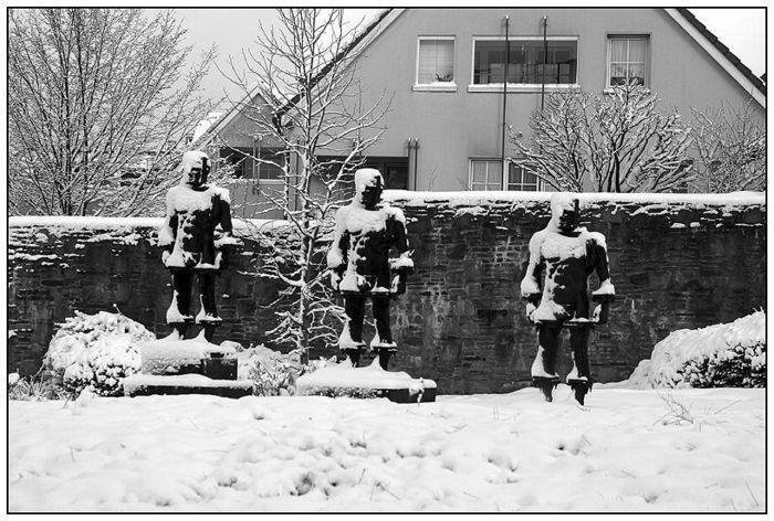 Männer im Schnee