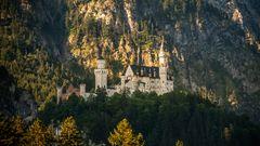 Märchenschloss in der Morgensonne