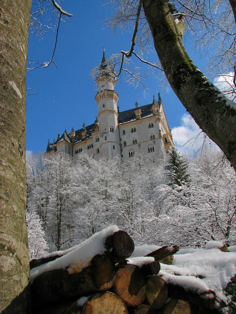 Märchenschoß im Winter mit Tiefe