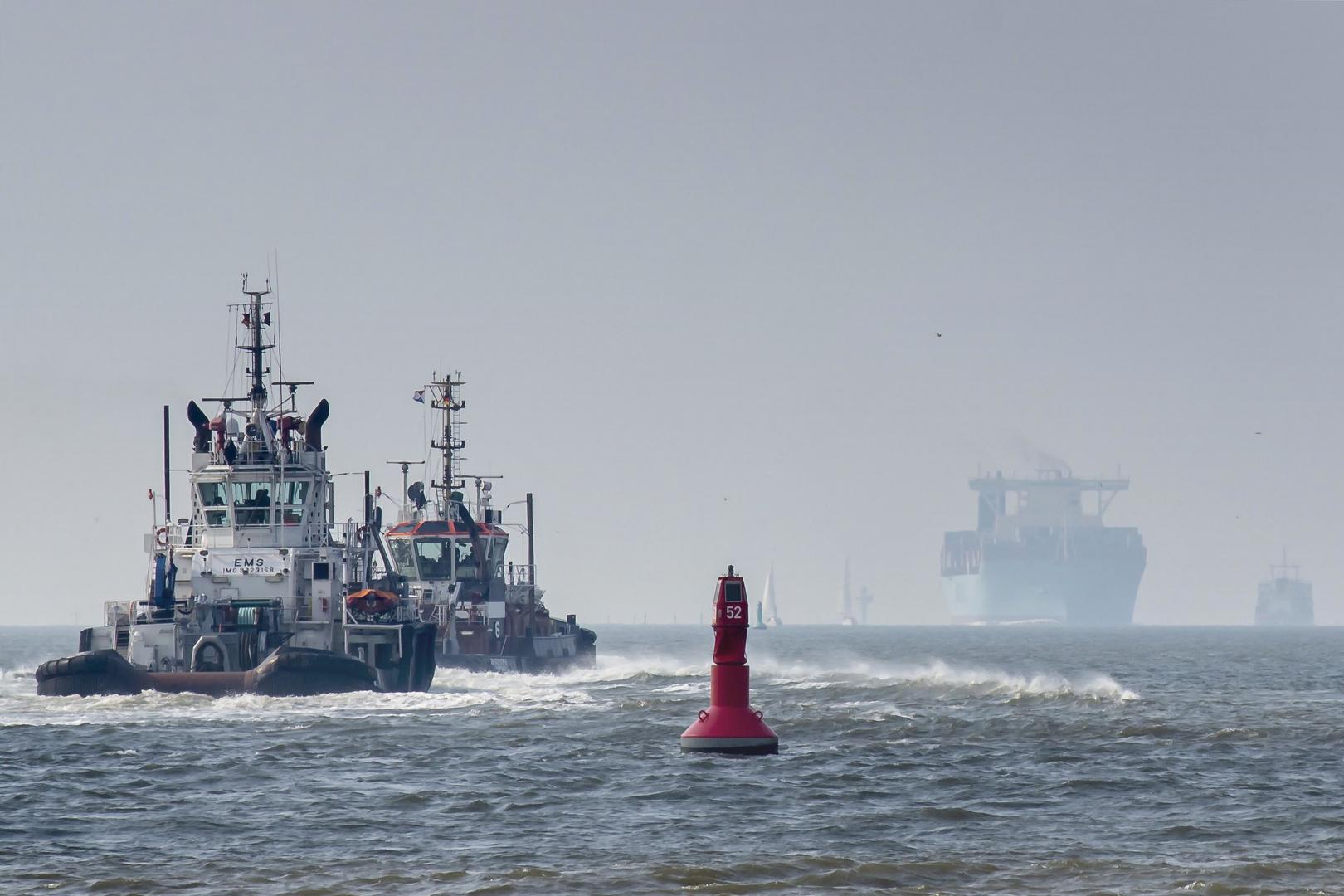Maersk Mc-Kinney Möller auf dem Weg nach Bremerhaven