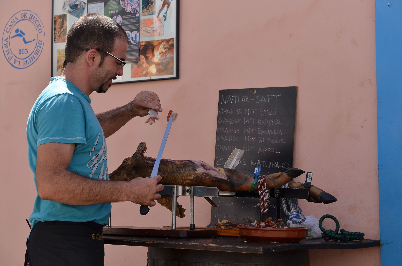 Maestro del jamón, Los Llanos de Aridane, September 2013