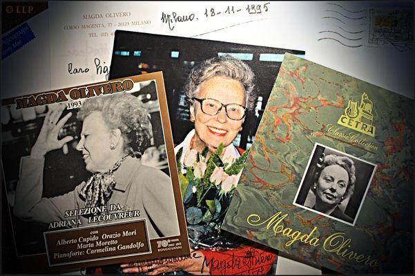 Magda Olivero - Fotos meiner Brieffreundin, dem Weltstar und der Callas-Antipodin Magda Olivero - I