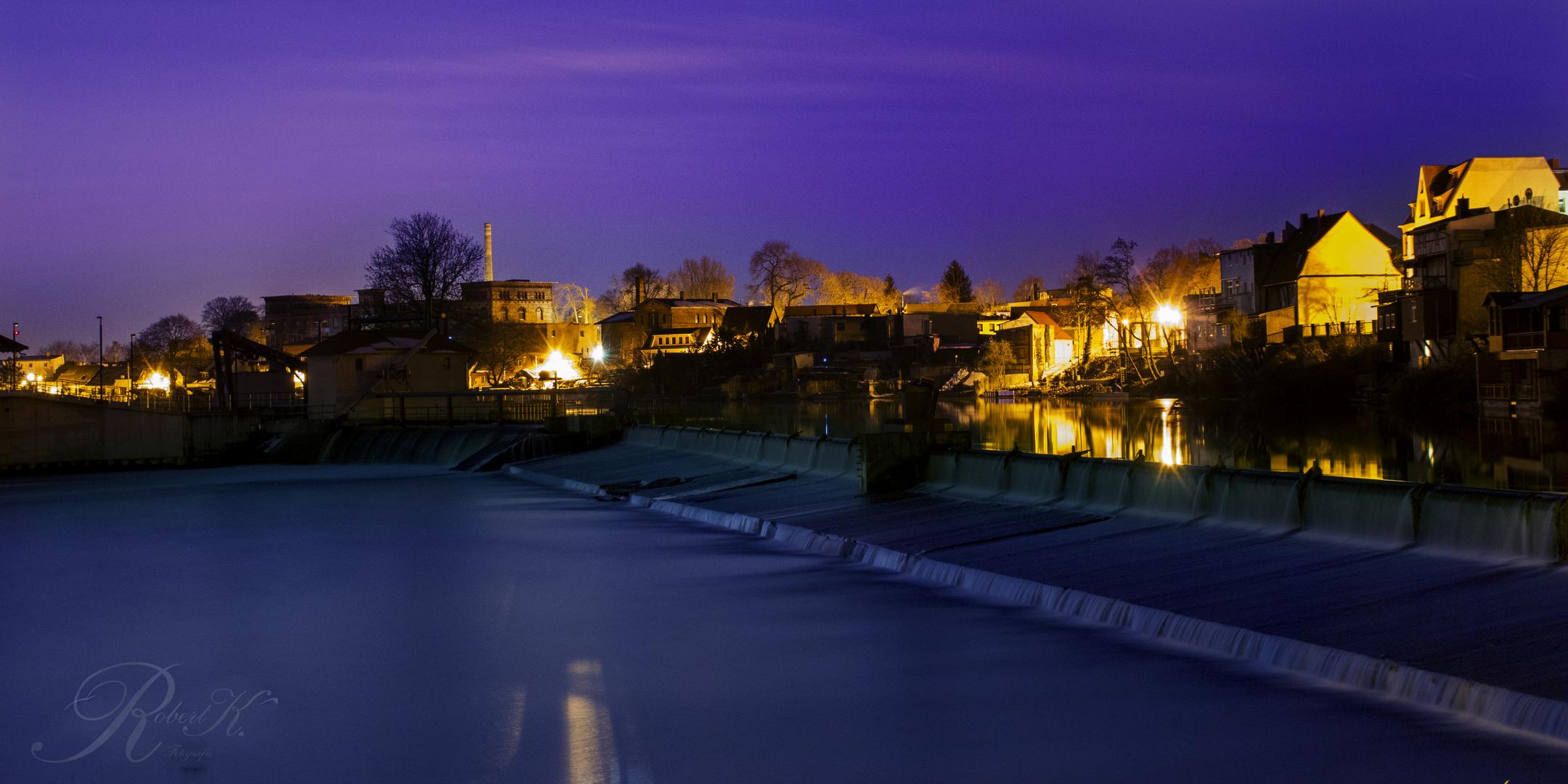 Magdeburg bei Nacht