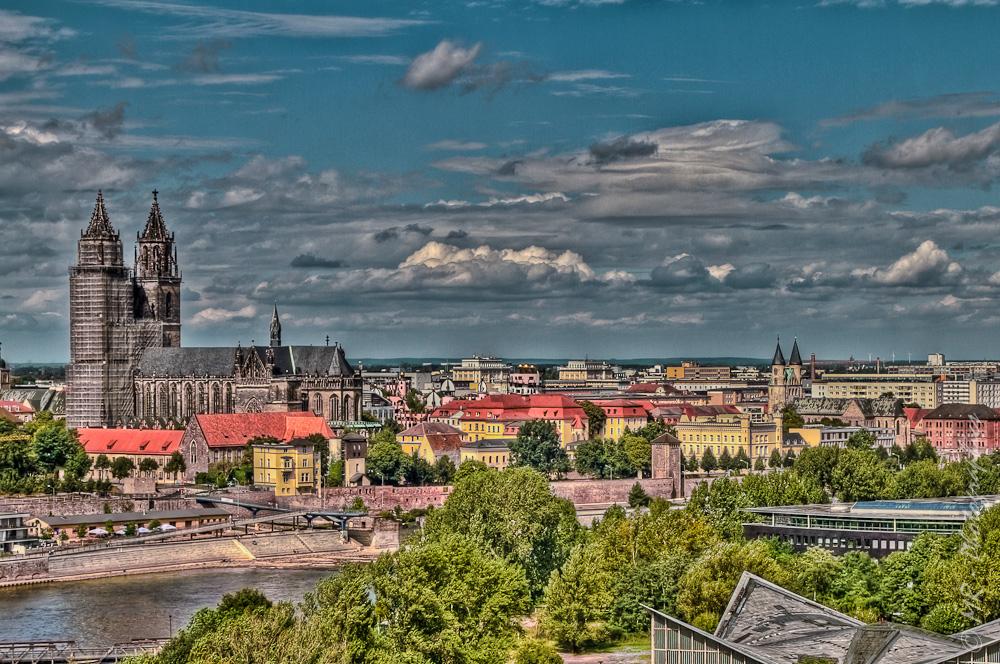 Magdeburg von oben
