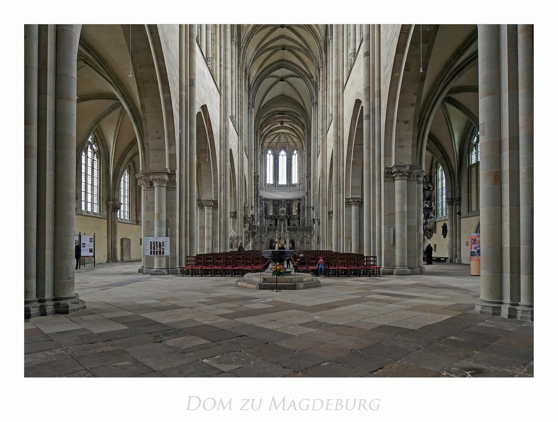 """Magdeburger Dom """" Blick zum Chorraum...."""""""