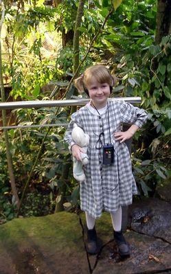 Maggie im Regenwaldhaus