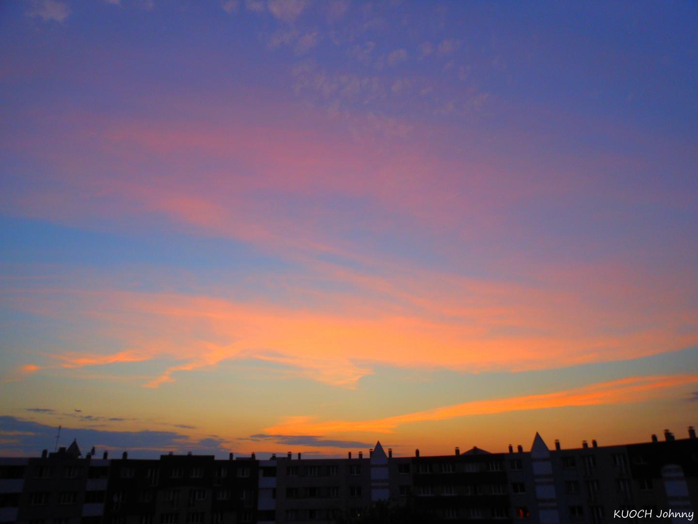 Magic dawn sky