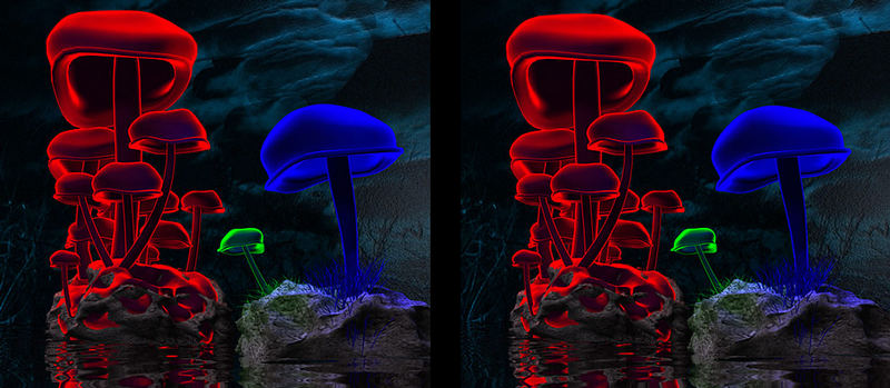 Magic Mushrooms 3D