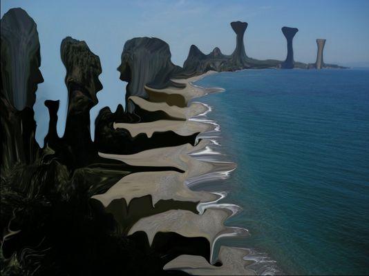 magic world 3,painting by tony danis