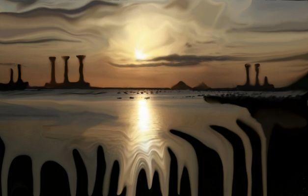 magic world ,painting by tony danis
