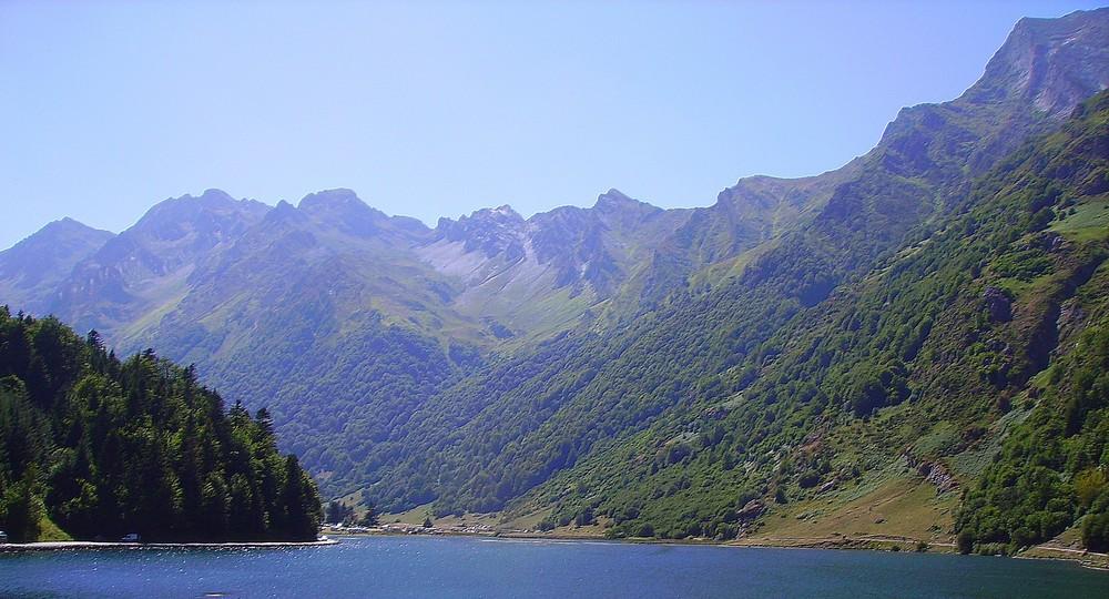 magnifique vue sur le lac d'estaing