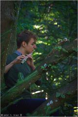 Magnus Mihm spielt Debussy im Baum