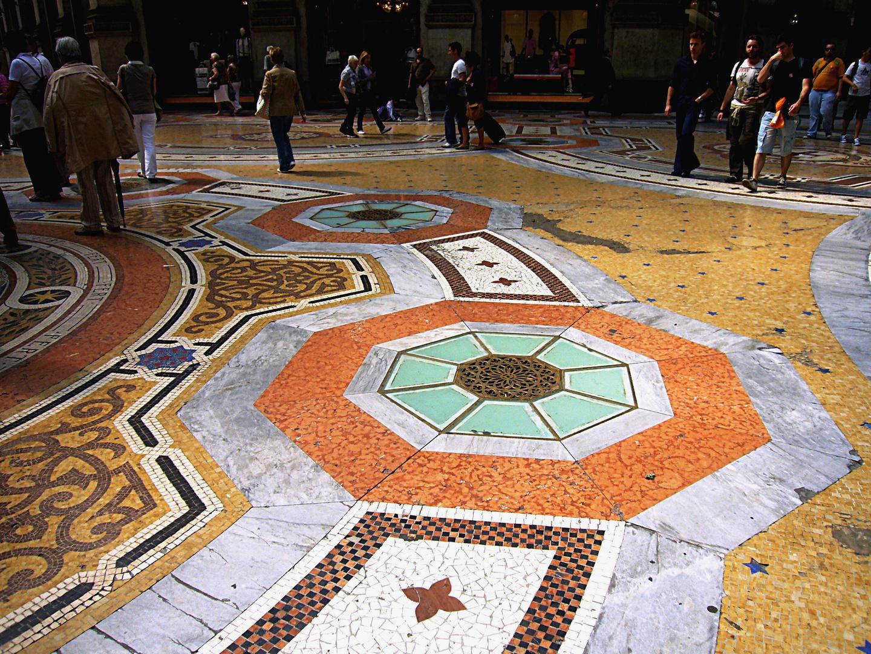 Mailand - Galleria Vittorio Emanuele - Bodenbelag