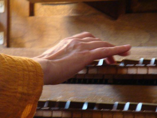 Main d'organiste