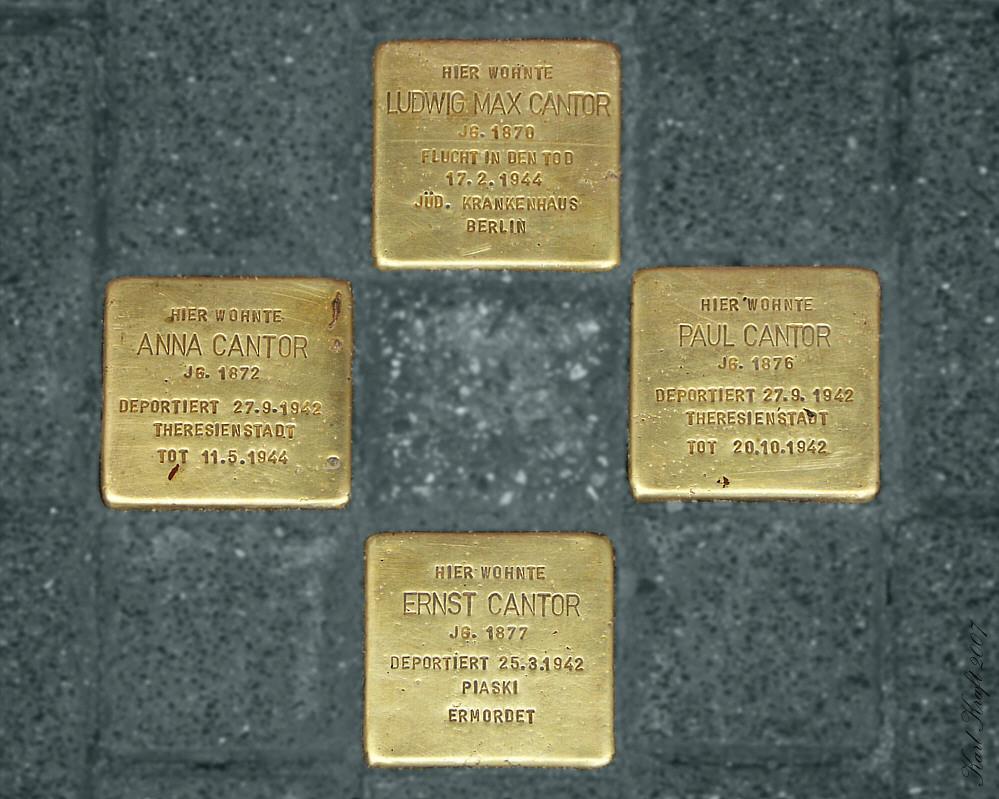 Mainz hat seine ersten Stolpersteine