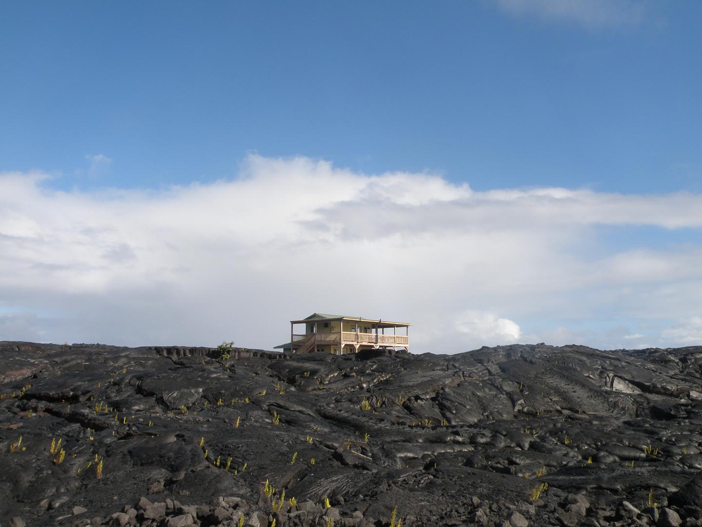 Maison au coeur d'un volcan