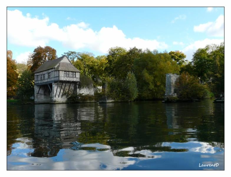 Maison colombages sur la Seine