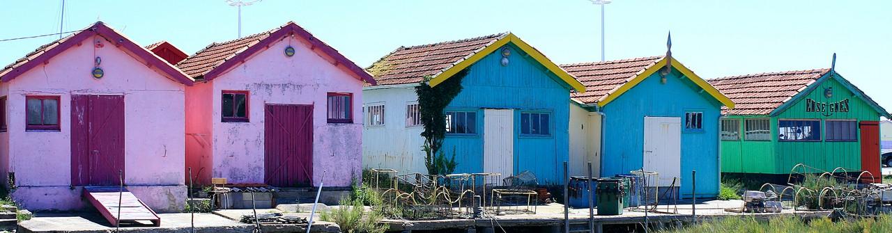 maisons de pêcheur sur l'île d'Oléron