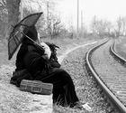 Maja -warten auf den Zug