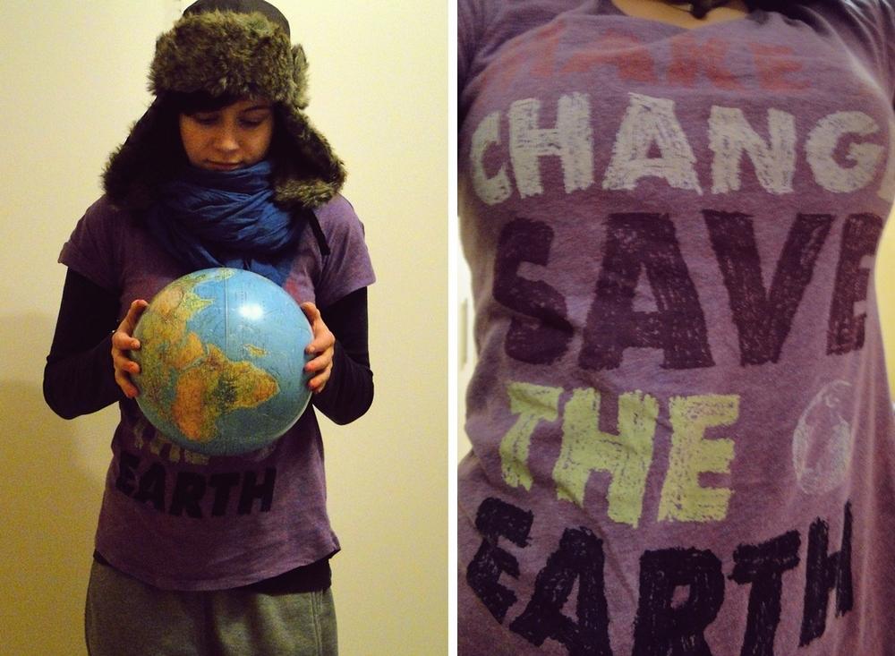 make a change; save the earth