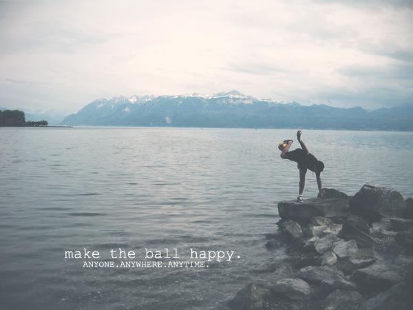 make the ball happy