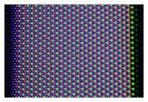 Makro eines 24 Pixel breiten weißen Bildrahmens