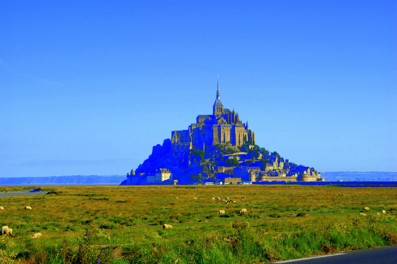 Mal ein wenig schrill: Mont Saint Michel