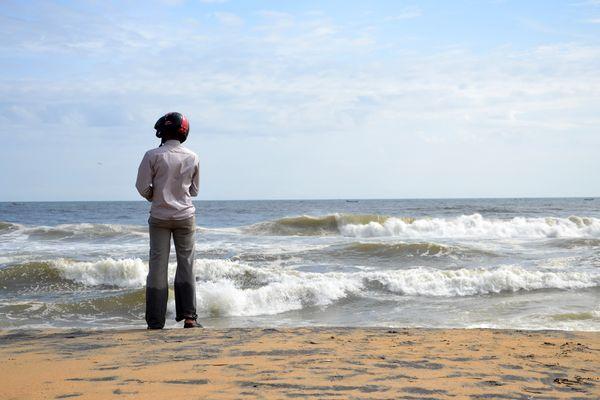 mal schnell zum Strand.....