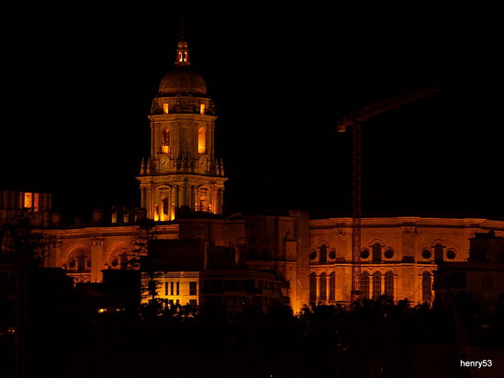 Malaga bei Nacht, Kathedrale