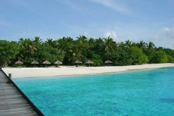 Malediven 2004 - Reethi Beach - East Side