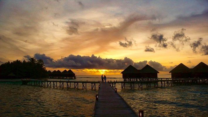 Malediven, Date auf dem Steg