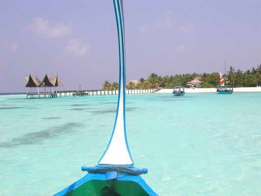 Malediven-Machchafushi, Dohni-Fahrt zur Insel