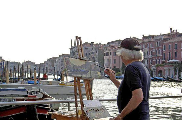 Maler am Canale Grande