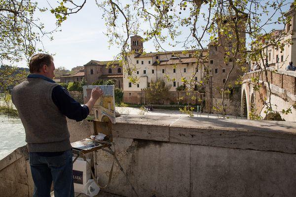 Maler an der Tiberbrücke