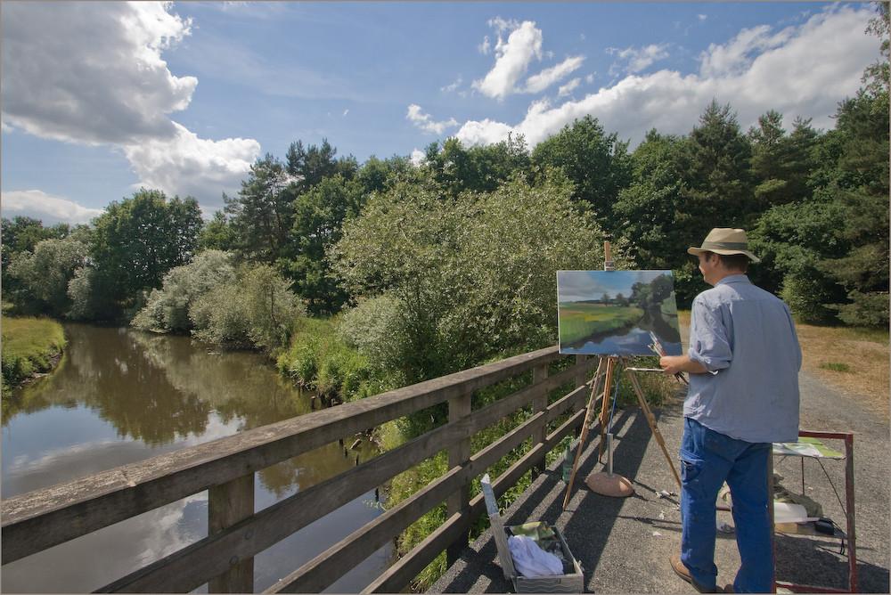 Maler aus Bremen bei der Granstedter Brücke 3