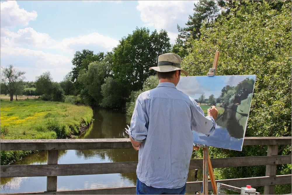 Maler aus Bremen bei der Granstedter Brücke