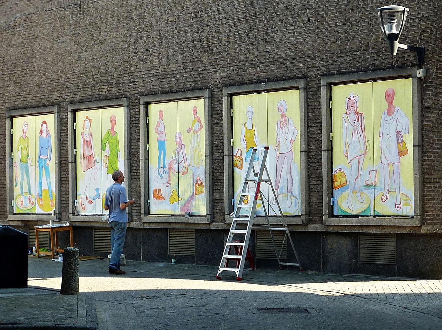 Maler bei der Arbeit ........
