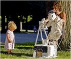 Maler mit Kind
